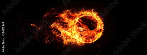 Obraz na płótnie A ring of fire