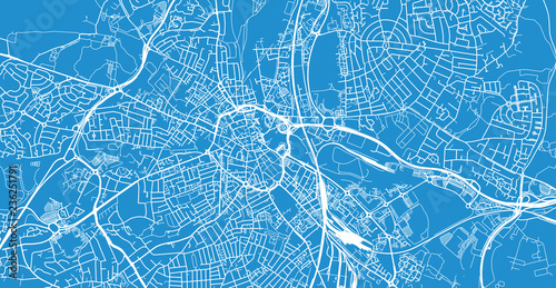 Foto Urban vector city map of Derby, England