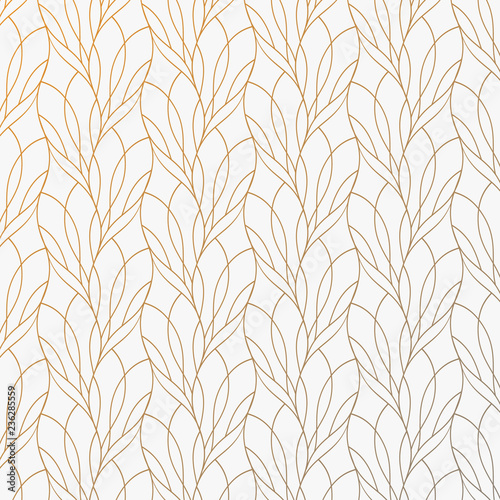 Kwiat płatka lub liści geometryczny deseniowy wektorowy tło. Powtarzanie tekstury płytki tej linii na owalnym kształcie z efektem gradientu. Wzór jest czysty nadaje się do tapet, tkanin, drukowania.