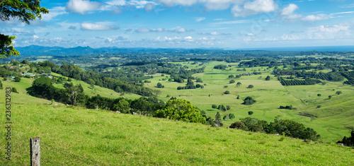 Foto Byron Shire landscape in the summer. In Australia.