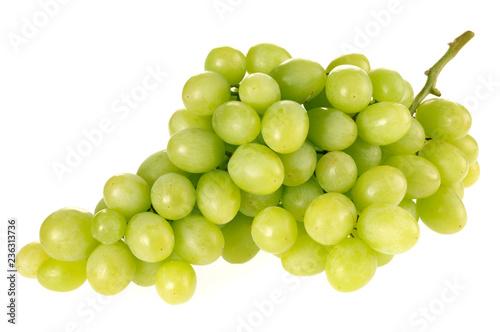 Photo GREEN GRAPES ON WHITE