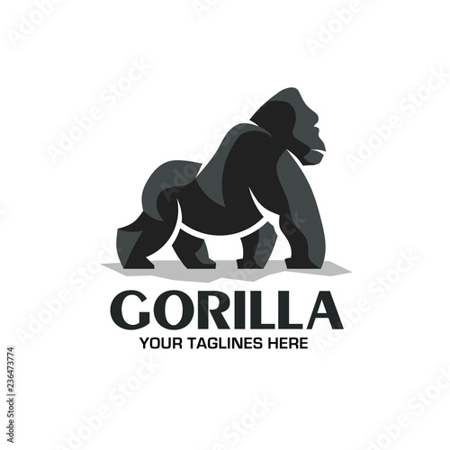 Obraz na płótnie creative and strong Gorilla logo vector isolated on white background