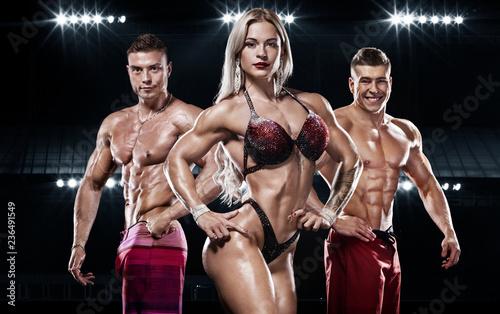 Fototapeta Bodybuilding competitions on the scene