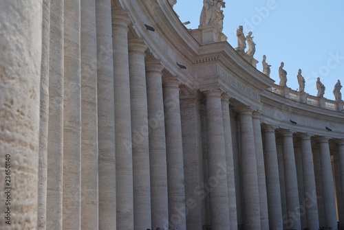 View of the St. Peter's Basilica in Vatican city.