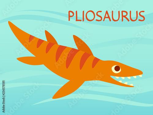 фотография Cute Pliosaur swimming