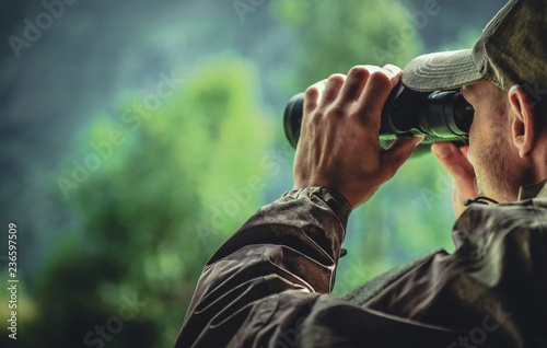 Tableau sur Toile Camouflage and Binoculars