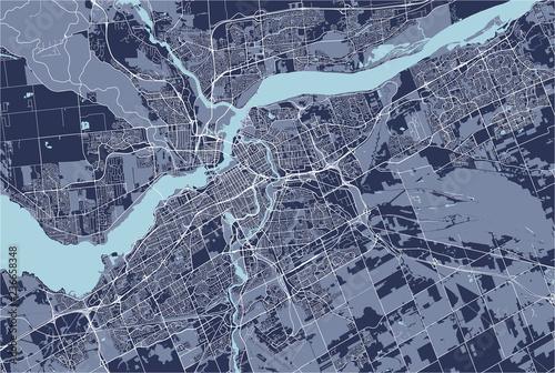 Fotografie, Obraz Map of the city of Ottawa, Ontario, Canada