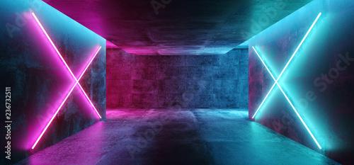 Fotografía Modern Futuristic Sci Fi Concept Club Background Grunge Concrete Empty Dark Room