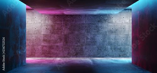 Fotografia Modern Futuristic Sci Fi Concept Club Background Grunge Concrete Empty Dark Room