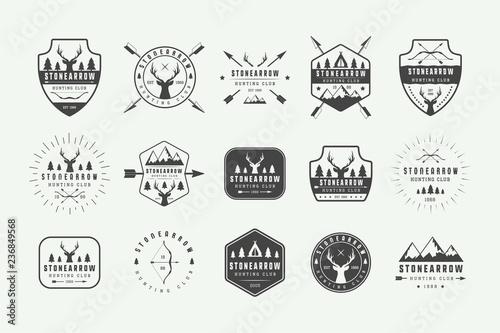 Fotografia Set of vintage hunting labels, logos, badges, emblems, marks and design elements