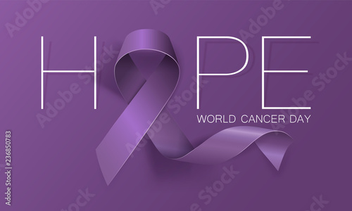 Canvas Print World Cancer Day concept