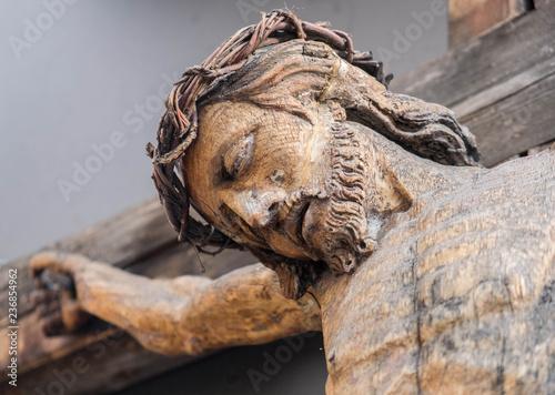 Holy Crucified Jesus Christ close-up Fototapeta