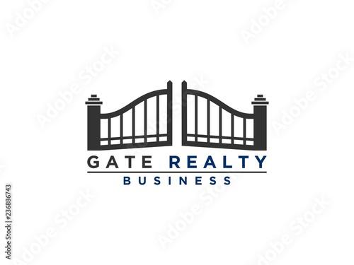 Fototapeta gate logo design inspiration