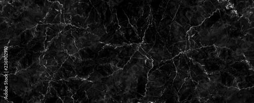 Naturalny czarny marmur tekstury na tapetę ze skóry luksusowego tła, do prac projektowych. Projekt wnętrz kamiennych ceramicznych ścian. Marmur o wysokiej rozdzielczości