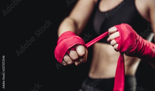 Fotografía girl athlete Boxing MMA