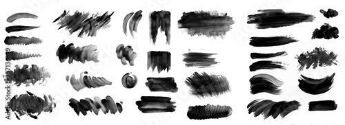 Fotografia, Obraz Brush strokes with watercolor paint