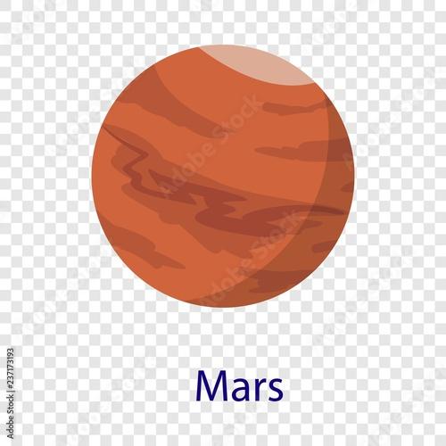 Fotografia Mars planet icon. Flat illustration of mars planet vector icon