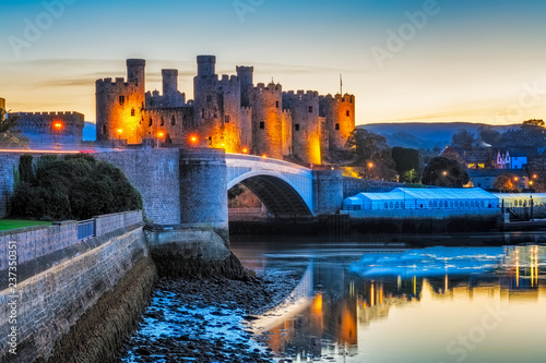 Canvas Print Conwy Castle in Wales, Uk.