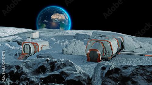 Fotografie, Obraz Base lunare, avamposto spaziale