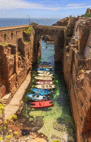 Canvas Print The most beautiful villages in italy: Salento coast, Santa Cesarea Terme (Apulia)