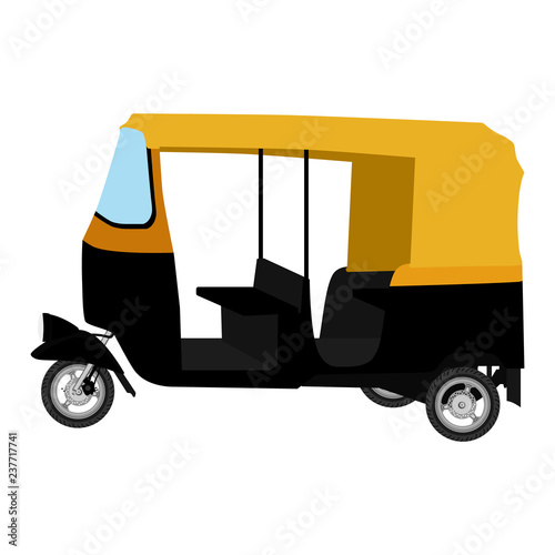 Obraz na plátně Tuk-tuk. indian auto rickshaw concept. Delhi auto.