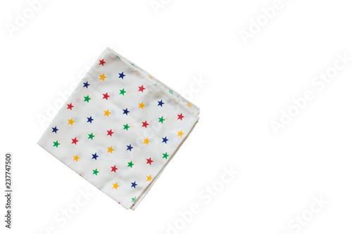 Fotografia One handkerchief isolated on white background