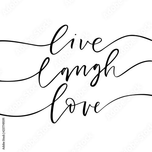 Fotografia Live, laugh, love card
