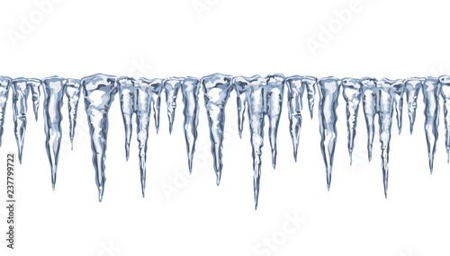 Fotografia Icy seamless border,  icicles.
