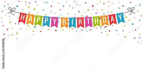 Canvas Print Happy birthday banner