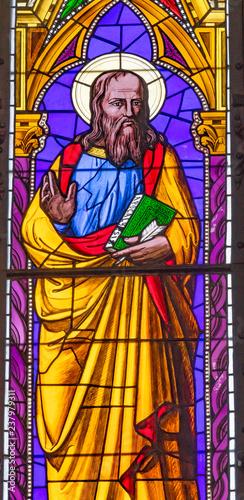 Fotografia Saint John Gospel Writer Stained Glass Baptistery Cathedral Pisa Italy