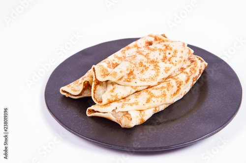 Pancakes stuffed with braised apples