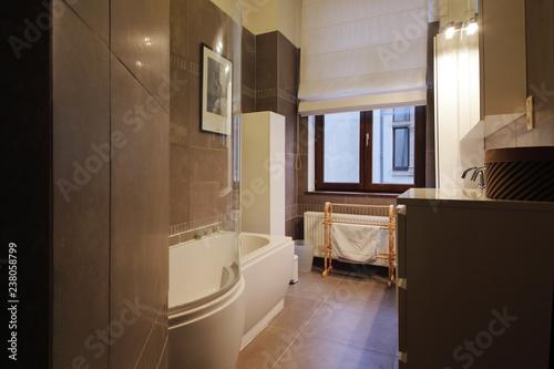 Fototapeta salle de bain appartement bain douche