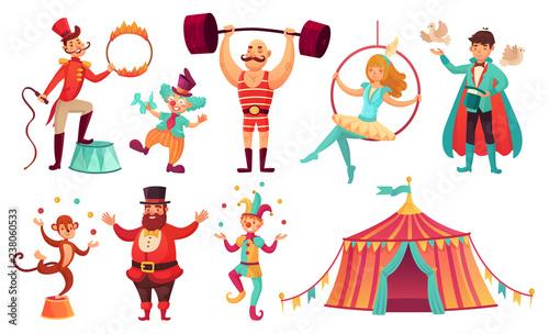 Vászonkép Circus characters