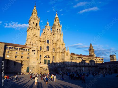 Foto Catedral de Santiago de Compostela en Galicia, España, vacaciones de 2018