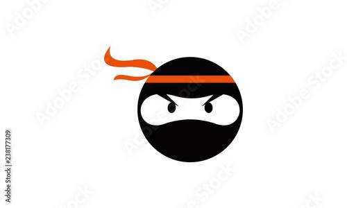 Canvas Print ninja head logo