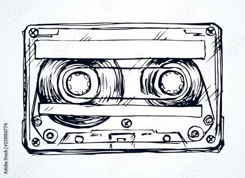 Obraz na plátně Cassette. Vector drawing