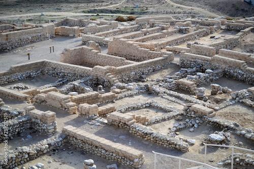 Tel Beer Sheba, Beer Sheva, Beersheva archaeological site, ruins of the ancient city, Israel, Negev desert