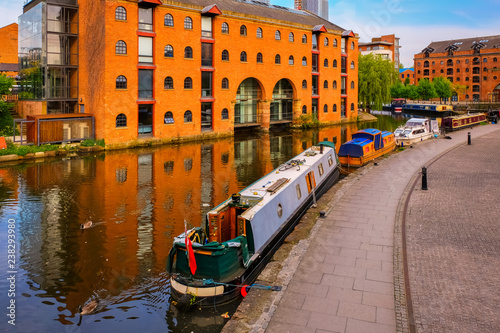 Canvas Print Castlefield - inner city conservation area in Manchester, UK