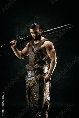 Canvas Print Portrait of a barbarian