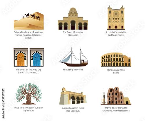 Obraz na plátně Symbol of tunisia
