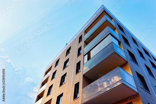 Fototapeta New modern apartment building exterior