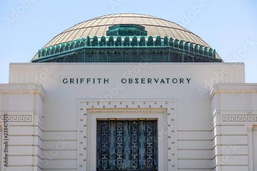 Fotografia, Obraz Famous Griffith Observatory in Los Angeles