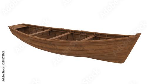 Obraz na plátně Wooden Boat Isolated