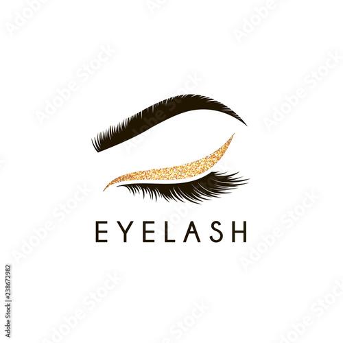 Obraz na płótnie Vector logo design template for beauty salon. Lash and Brow icon.