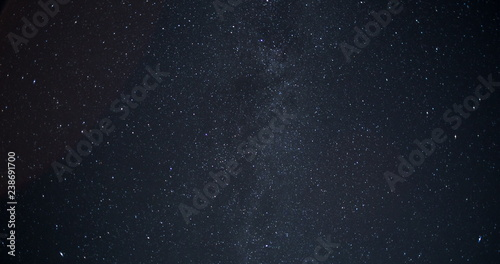 Amazing Starry Night Sky with Falling Stars and Milky Way Galaxy