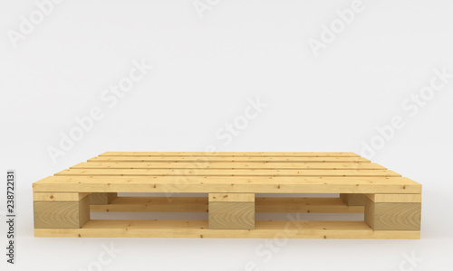 Stampa su Tela wooden pallets. 3d render