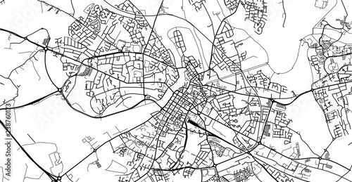 Fotografie, Obraz Urban vector city map of Limerick, Ireland