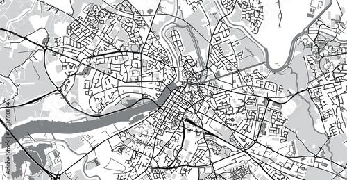 Obraz na plátně Urban vector city map of Limerick, Ireland