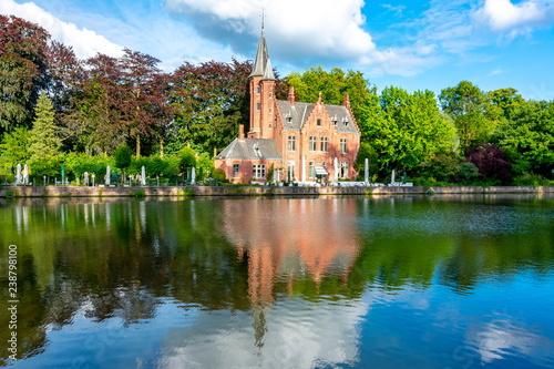 Fototapeta premium Jezioro Miłości latem, Brugia, Belgia
