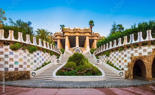Fototapeta premium Park Guell w Barcelonie, Hiszpania